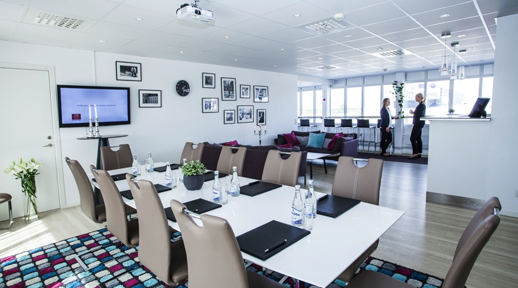 The bright aand spacious Top Floor conference room at Gillet Hotel in Uppsala