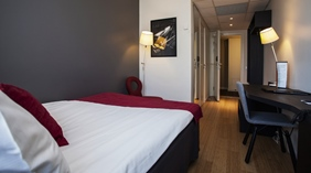 Hip and well-furnished moderate single room at Gillet Hotel in Uppsala