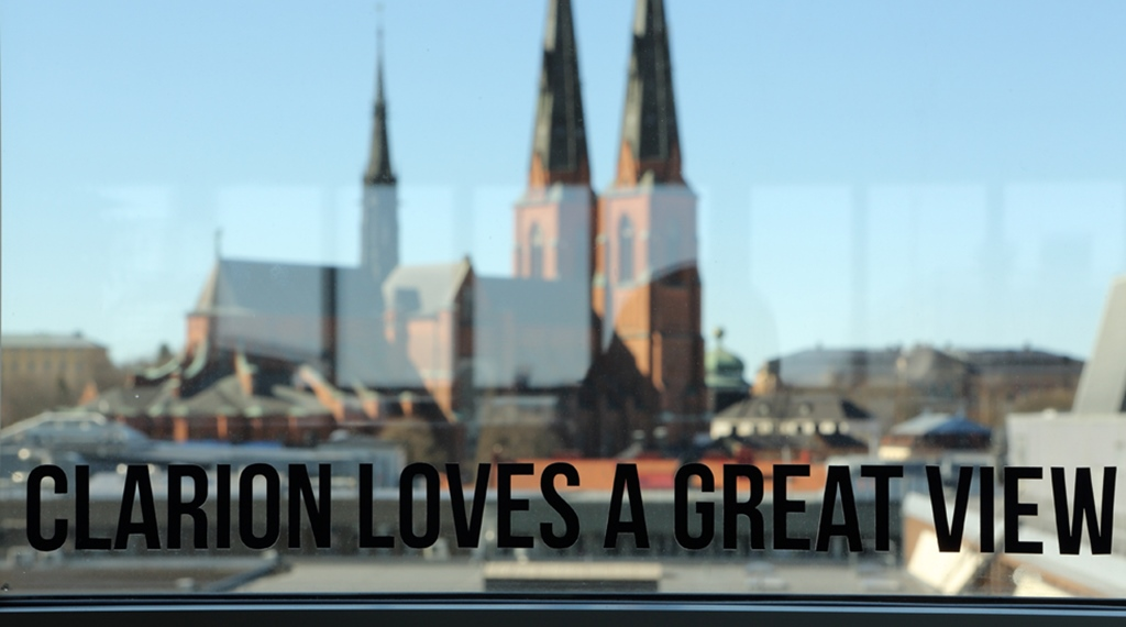 Enjoy the amazing view of the Uppsala Cathedral at Gillet Hotel in Uppsala