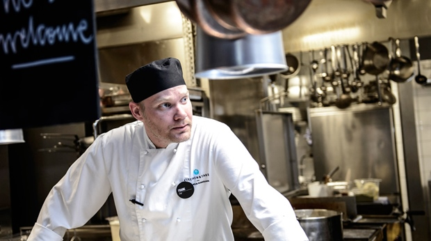 Chef in the Kitchen & Table restaurant at Grand Hotel in Ostersund