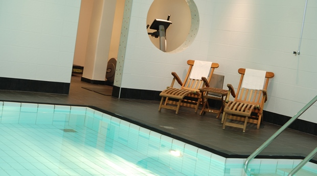 Large pool and spa area at Grand Hotel in Ostersund