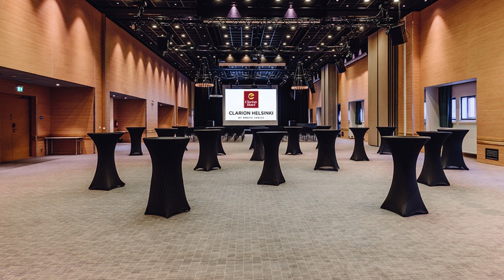 Large, flexible meeting space at the Clarion Hotel Helsinki that is ideal for drinks receptions and presentations