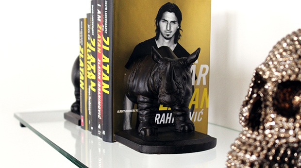 Details in the famous Zlatan suite including the book Zlatan at Malmo Live Hotel in Malmo