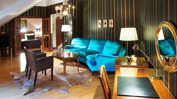 Impressive and classy suite with seperate living room area at Hotel Orebro