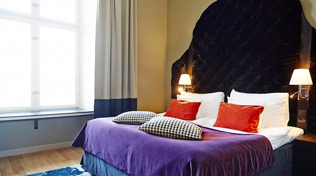 The classy and colourful Elna suite at Post Hotel in Gothenburg