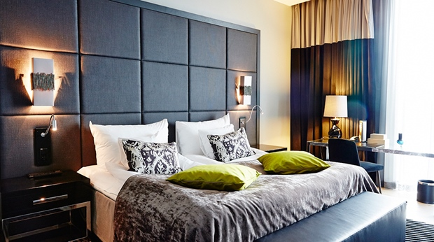 The comfortable and stylish Rooftop suite at Post Hotel in Gothenburg