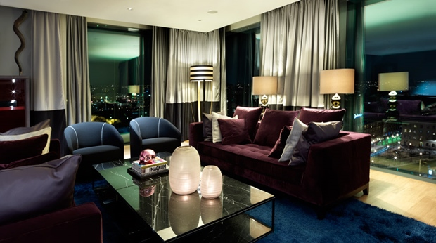 Fashionable first-class suite with an amazing view at Post Hotel in Gothenburg