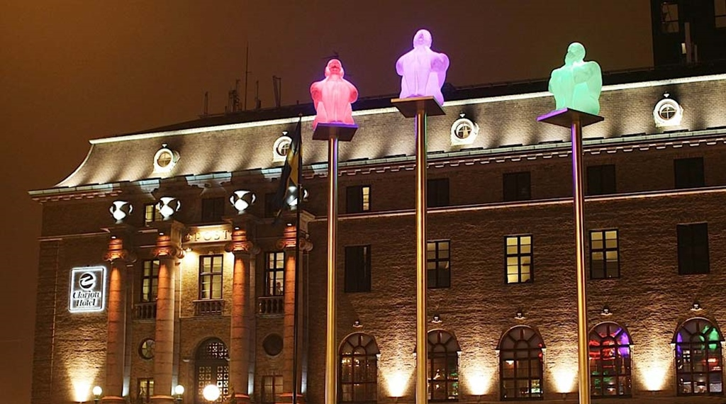 The impressive facade of the Post Hotel in Gothenburg