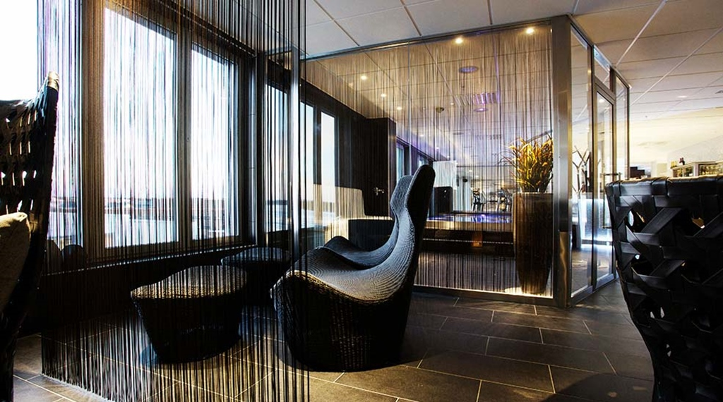 Relax in the cosy spa lounge at Sense Hotel in Lulea