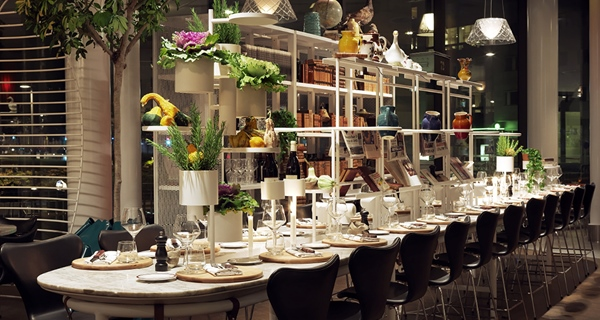 Stylish hotel restaurant at Sign Hotel in Stockholm