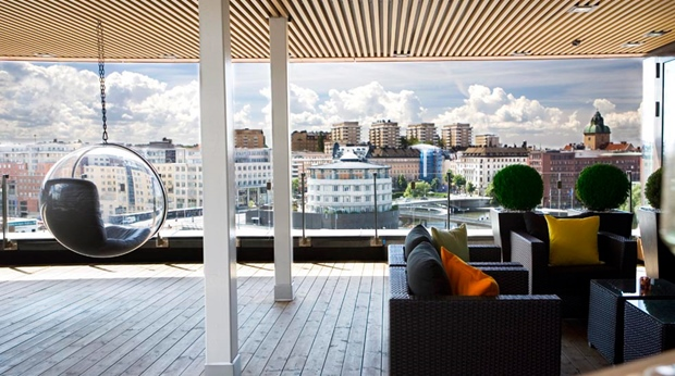 Experience the impressive spa bar and the amazing view of the city at Sign Hotel in Stockholm