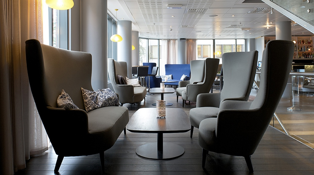 Sleek and comfortable lounge at Stavanger Hotel