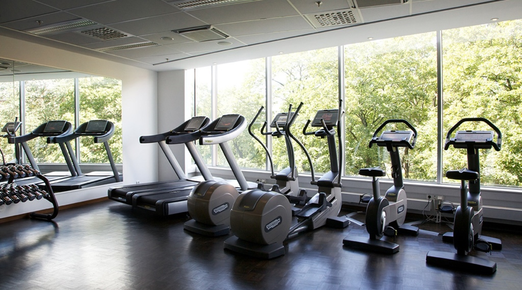 Modern and well-equipped gym at Hotel Stockholm