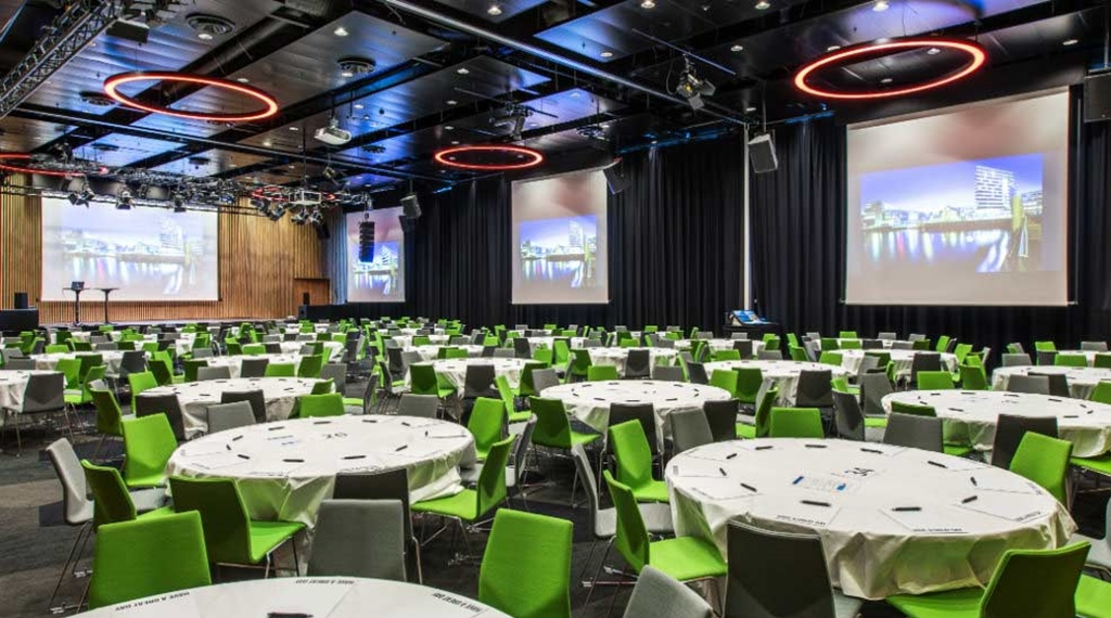 Extensive conference room with space for 1000 people at The Edge Hotel in Tromso