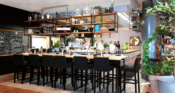 Hip and open restaurant at The Edge Hotel in Tromso