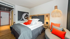 Chic single room at The Edge Hotel in Tromso