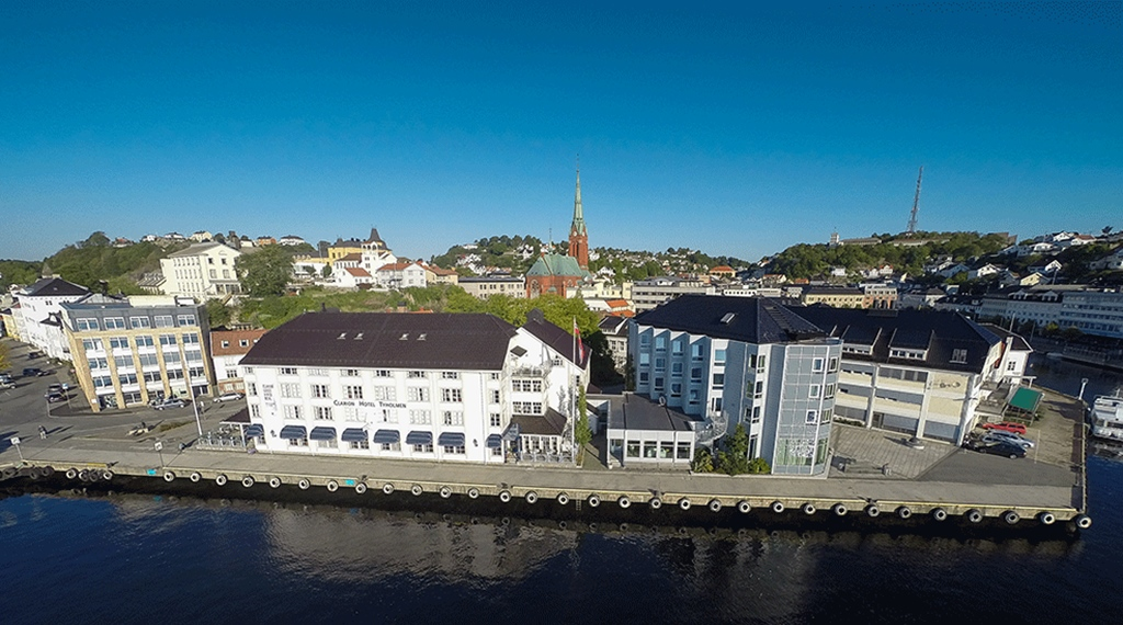 The perfect location by the water at Tyholmen Hotel in Arendal