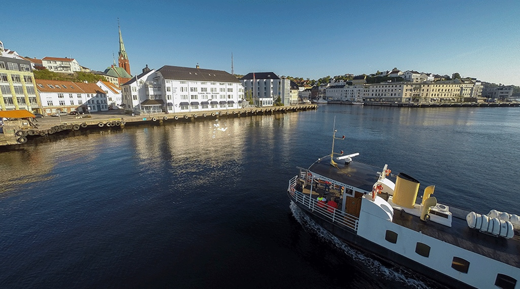The nearby attractions include the cathedral and harbour at Tyholmen Hotel in Arendal