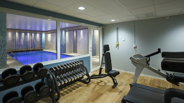 Modern and well-equipped gym at Winn Hotel in Gavle