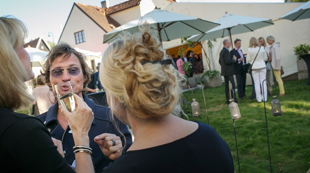 Socialising during an event at Wisby Hotel in Visby