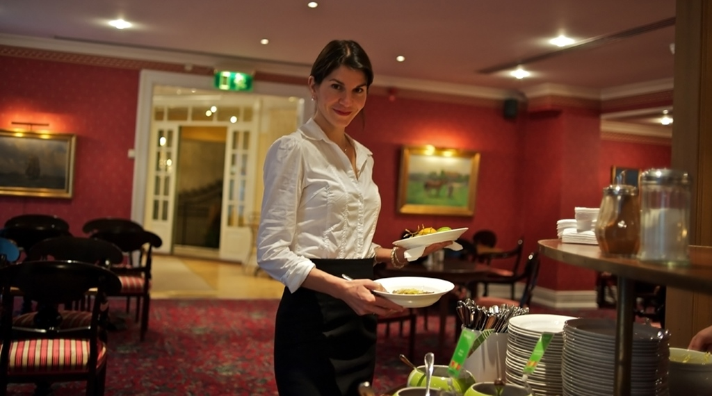 Lunch served with a smile at Wisby Hotel in Visby