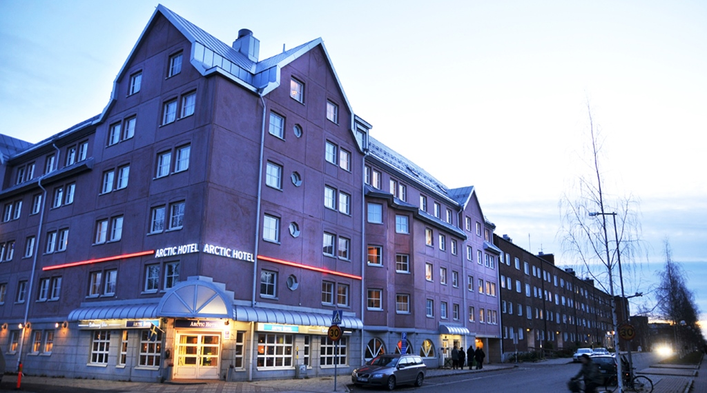 The facade of the Comfort Hotel Arctic in Lulea