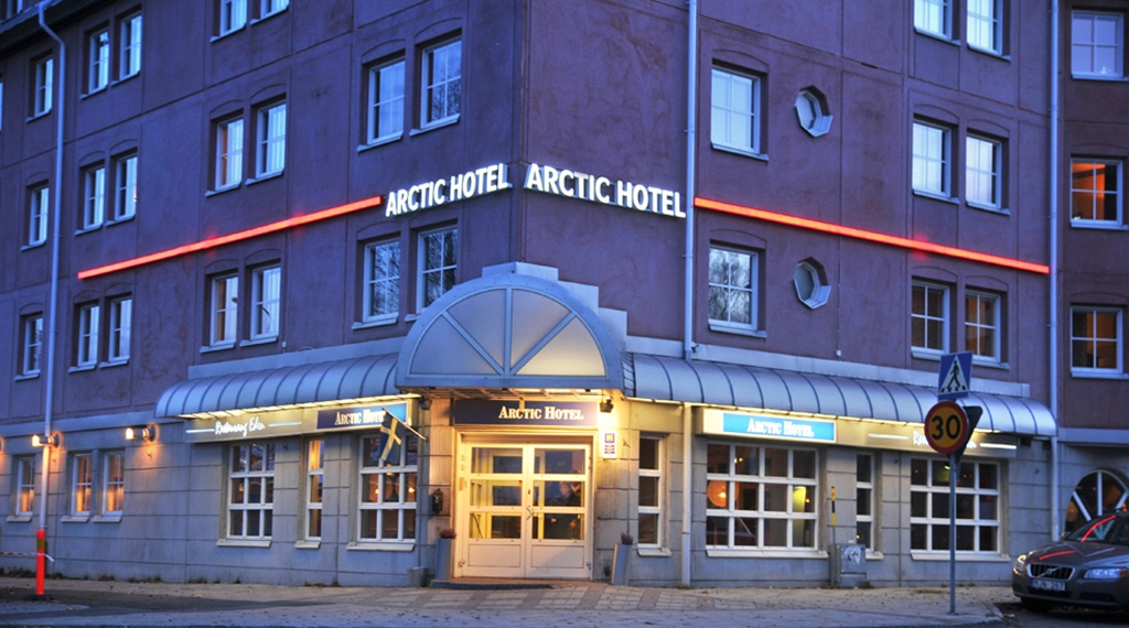 Facade details at the Comfort Hotel Arctic in Lulea