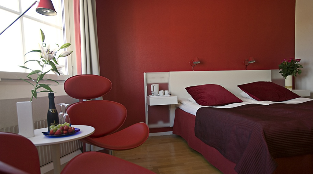 Large modern standard double room at Comfort Hotel Arctic in Lulea