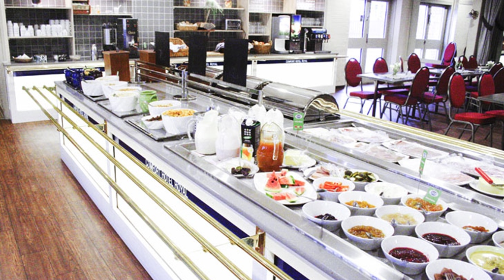 Lunch buffet at Comfort Hotel Royal in Saffle