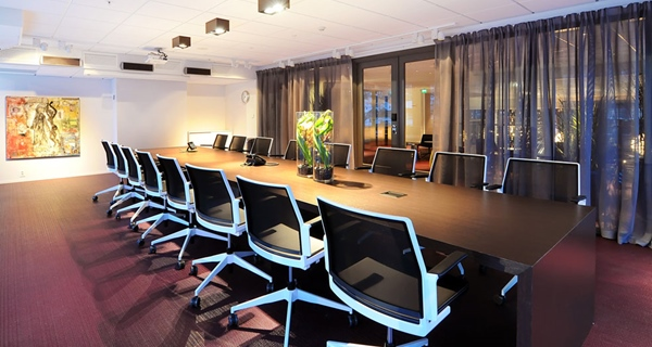 Stylish conference room at Comfort Hotel Union Brygge in Drammen