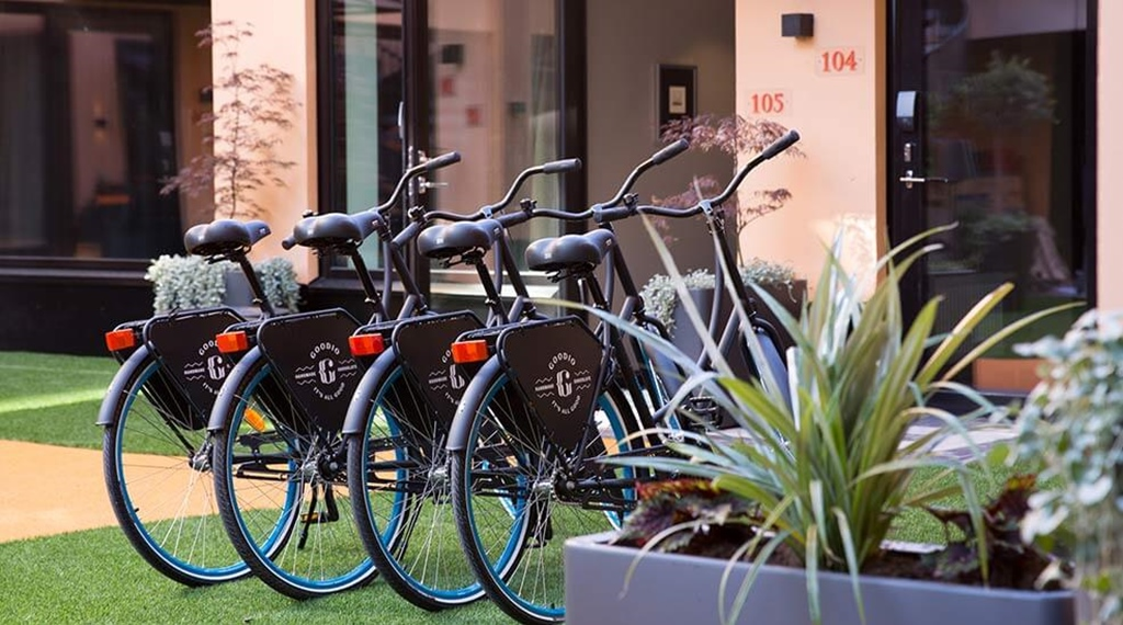 Bikes for sightseeing in Helsinki, Finland, at Hotel F6