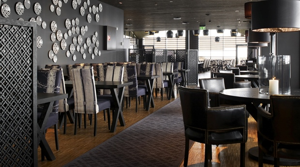 Stylish and spacious hotel restaurant at Norrefjell Ski & Spa Hotel in Norrefjell