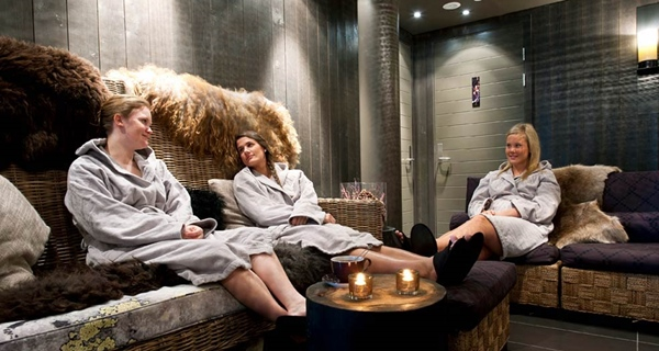 Complete relaxation in the spa lounge at Norrefjell Ski & Spa Hotel in Norrefjell