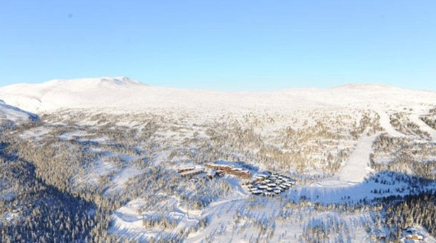 Aerial photo of Norrefjell and the Norrefjell Ski & Spa Hotel in Norrefjell
