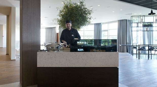 Buffet chef ready to serve you at Quality Airport Hotel Stavanger