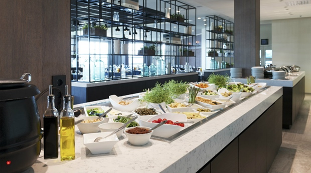 Large and fresh lunch buffet at Quality Airport Hotel Stavanger