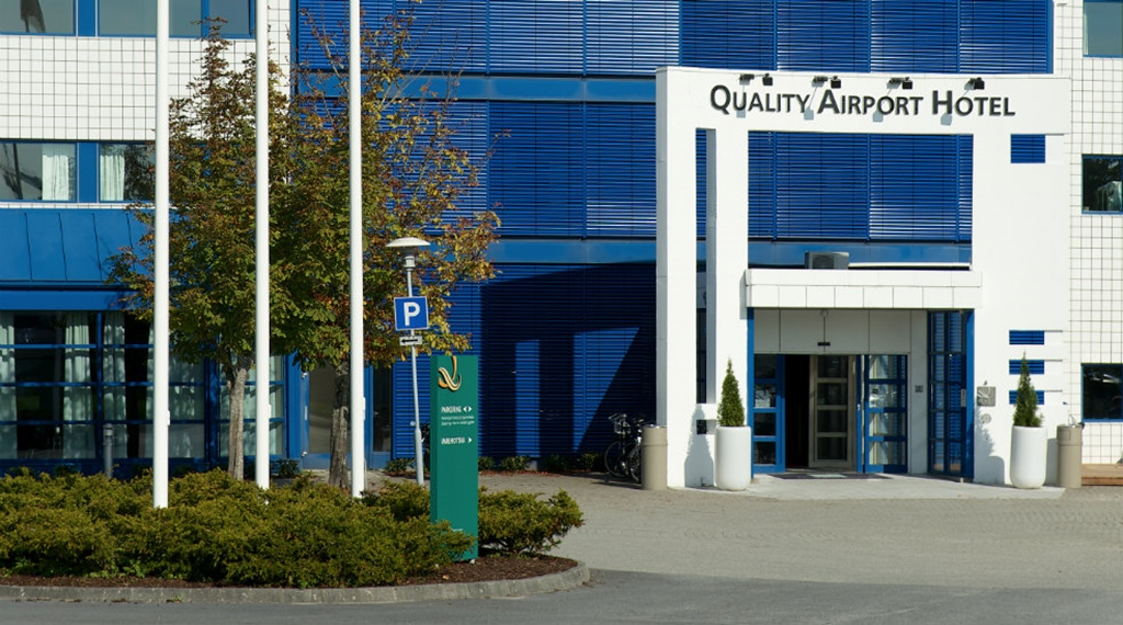 The facade of the Quality Airport Hotel Stavanger