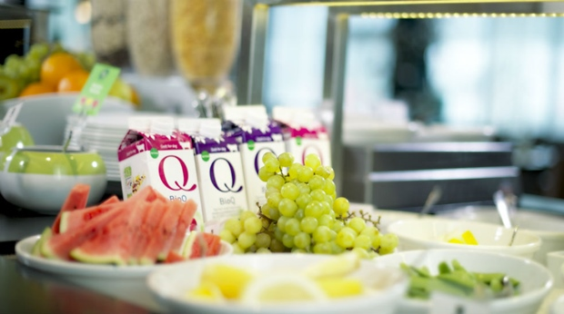Healthy and fresh buffet at Quality Airport Vaernes Hotel in Stjordal