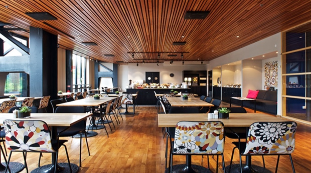 The hip and stylish café Eriksberg at Quality Hotel 11 in Gothenburg