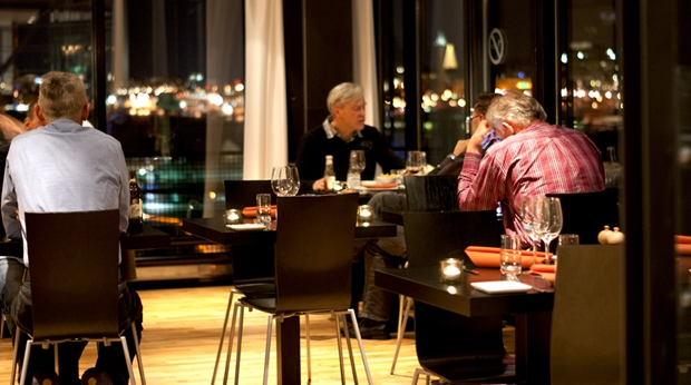 First-class hotel restaurant at Quality Hotel 11 in Gothenburg
