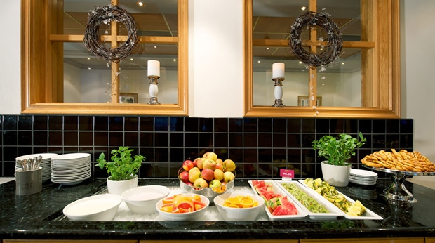 Healthy breakfast buffet at Quality Alexandra Hotel in Molde