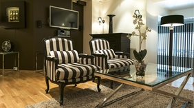 Luxurious suite living room at Quality Augustin Hotel in Trondheim