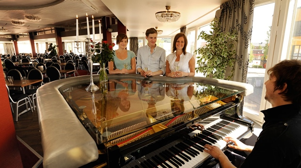 Experience how the grand piano creates the perfect atmosphere at Quality Bodensia Hotel in Boden