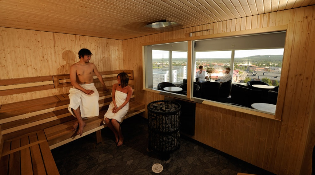 Relaxing sauna as part of the spa experience at Quality Bodensia Hotel in Boden