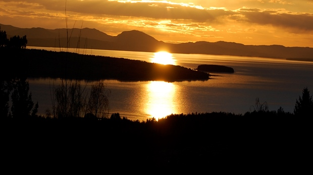 The astonishing view of the sunset and Siljan lake at Quality Dalecarlia Hotel in Tallberg