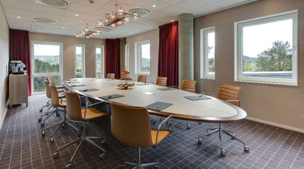 Executive style meeting room at Quality Edvard Hotel in Bergen
