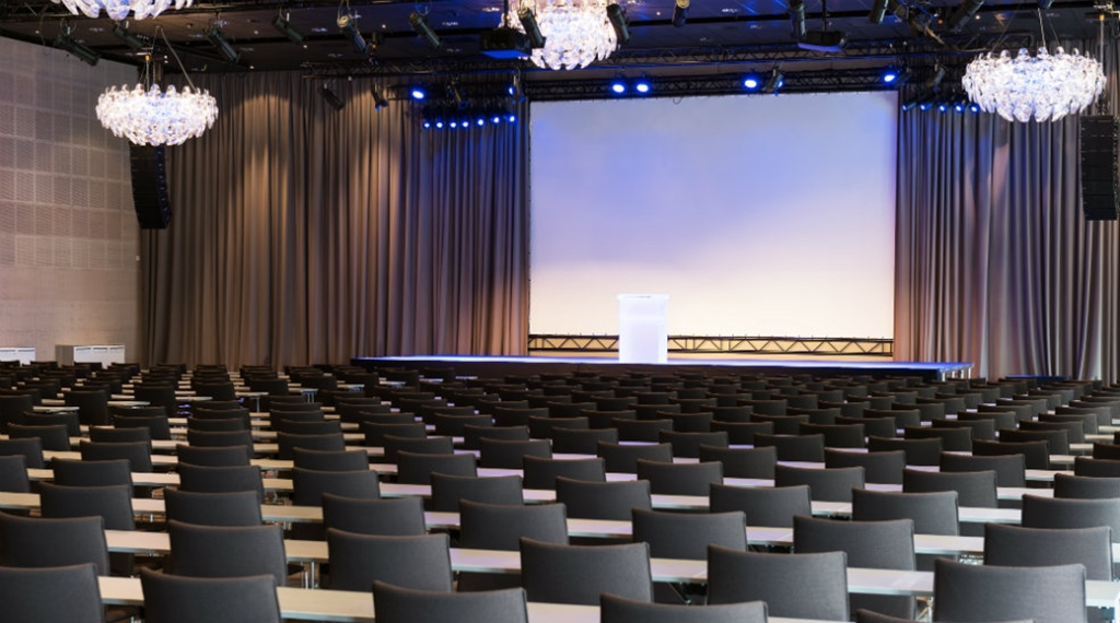 The Troldsalen conference room with space for 1080 people at Quality Hotel Edvard Grieg Bergen