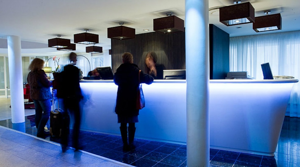 The reception at Quality Ekoxen Hotel in Linkoping