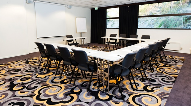 Modern and well-equipped hotel conference room at Quality Mastemyr Hotel in Kolbotn