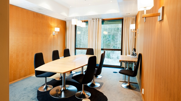Modern hotel meeting room with a great view at Quality Mastemyr Hotel in Kolbotn